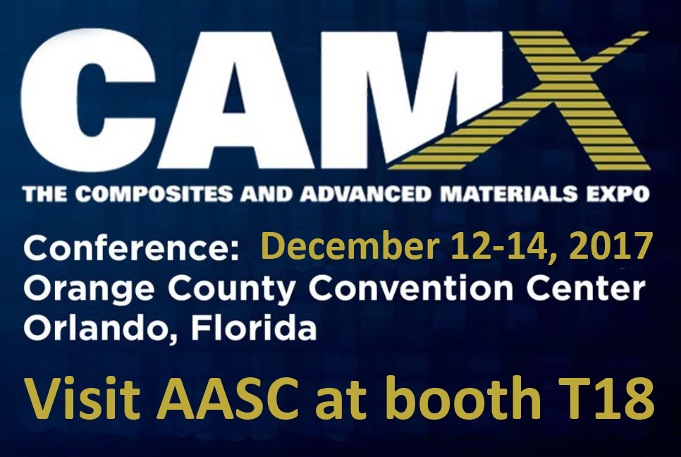 AASC's Flyer for the 2017 Composites and Advanced Materials Expo.