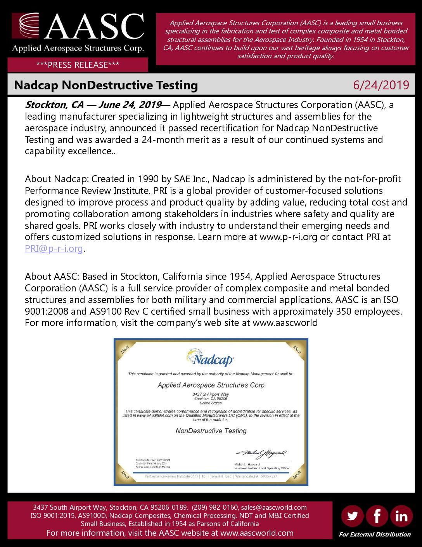 Nadcap NonDestructive Testing - AASC